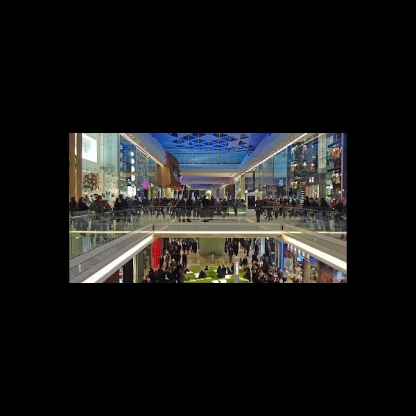 Massive Westfield shopping centre